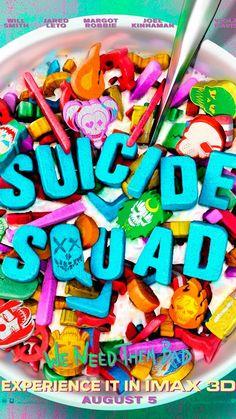 Suicide Squad: Cartel IMAX pone a los malos en el cereal