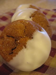 White Chocolate Dipped Gingersnaps
