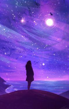 New Purple Aesthetic Wallpaper Sky Ideas Anime Sky, Anime Galaxy, Galaxy Art, How To Draw Galaxy, Galaxy Wallpaper, Wallpaper Backgrounds, Wallpaper Space, Mobile Wallpaper, Art Galaxie