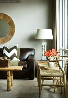 chocolate brown couch with nailhead trim   room brown leather