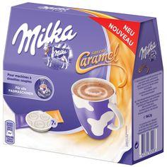 -in USA- Milka Pads-CARAMEL Hot chocolate for any pad coffee machine -8ct.