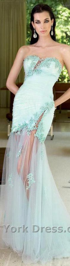 #long #formal #dress #strapless