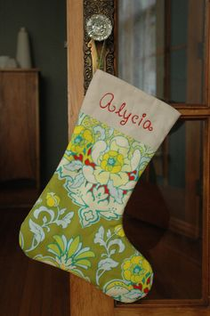 Personalized Christmas Stocking:  Pop Collection Mix and Match Coordinating Fabrics