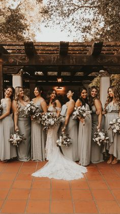 Bridesmaid Dress Colors, Wedding Bridesmaid Dresses, Dream Wedding Dresses, Halloween Bridesmaid Dress, Different Bridesmaid Dresses, Bridal Party Dresses, Bridesmaid Ideas, Cute Wedding Ideas, Wedding Styles