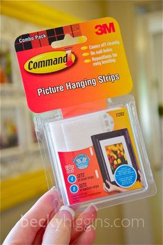 The Picture Hanging Strips By Command Are Wonderful To Hang Pictures No Hammer Nails Holes In Wall Crooked Lines Paint Pulled Off Of