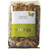 Good Life Organic Soap Nuts:                       Why Soap Nuts Are An Excellent Alternative To Laundry Detergents:        * 100% natural - it's a fruit!      * Certified organic - your guarantee that it's pesticide and chemical free.      * Hypoallergenic - great for babies and people with skin sensitivities. Used in Ayurvedic medicine to treat eczema and psoriasis.      * Effective - soap nuts really wash whiter and brighter; make clothes soft and fluffy without the need for a softener…