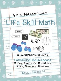 This winter themed life skill math pack is a lot of fun for students to complete during the wintertime season and adds structure to your math lessons while making sure your students get the life skill practice they need. You'll love this PRINT and GO math pack, already differentiated for three different skill levels.