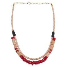 La Raffinerie necklace / Coral Red   #fall #jewelry #statementnecklace #necklace  http://www.laraffinerie.ca/products/coral-red