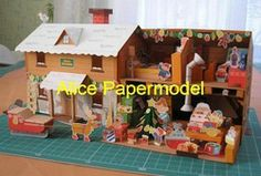 Online Shop [Alice papermodel] santaclaus house house architecture diorama Sandbox structure building models|Aliexpress Mobile