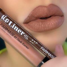 Brown Lipstick, Matte Lipstick, Liquid Lipstick, Lipsticks, Fall Lipstick Colors, Fall Lip Color, Farmasi Cosmetics, Body Shop At Home, Kylie Lip Kit