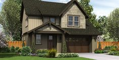 Image for Halsey-Suburban Craftsman with Elegant Entry-4161