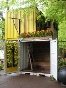 Tiny Living: City Vs. Country « The Tiny Life...gorgeous shipping container home!