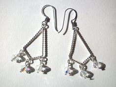 Chandelier earrings Swarovski clear crystal AB by StarJewels, $17.00
