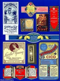 Collection of Vintage Pharmacy Ads and Labels