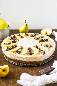 čokoládovo hrušková mousse torta Mousse, Camembert Cheese, Food, Deserts, Essen, Meals, Yemek, Eten