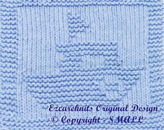 Knitting Cloth Pattern  SEAHORSE  PDF by ezcareknits on Etsy