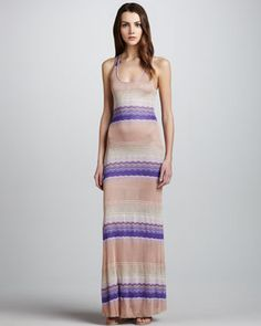 Blaire Striped Sleeveless Maxi Dress by Young Fabulous and Broke at Neiman Marcus.