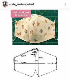 Easy Face Masks, Diy Face Mask, Diy And Crafts, Arts And Crafts, Textiles, Couture, Diy Mask, Bed Pillows, Sewing Patterns