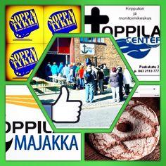 La 7.11. klo 11. Soppaa ja Evankeliumia Toppila-Centerissä.