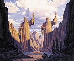 Tolkien Calendar April 1978 Pillars of the Kings, Brothers Hildebrandt