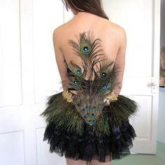 Peacock feather dress LOVE THIS DRESS SO MUCH!