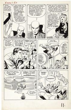 Stan Lee, Jack Kirby, Paul Reinman, Sam Rosen | X-Men #1, page 10, 1963. Original page, uncoloured. | #comics #marvel