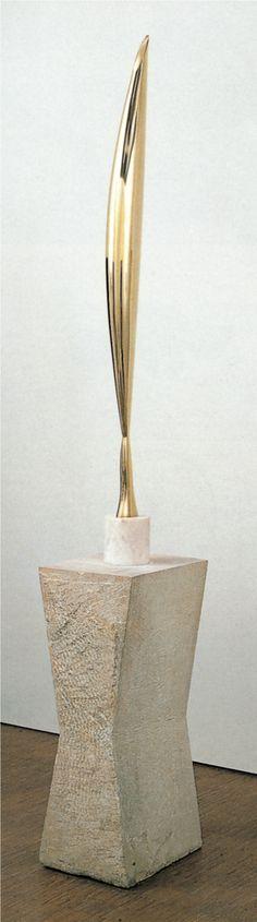 """3.201 Constantin Brancusi, """"Bird in Space (L'Oiseau dans l'espace)"""", c. 1941. Polished brass, 6'3⅜"""" high. (Romanian)"""
