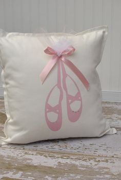 Point Shoes Ballerina Pillow Cover by MonMellDesigns on Etsy, $30.00