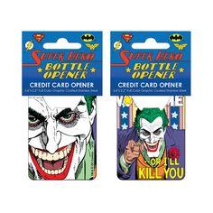 Batman Joker Vote Me Credit Card Bottle Opener - Entertainment Earth Credit Card Bottle Opener, My Credit, Marvel Dc, Dc Comics, Joker, Batman, Hero, Entertaining, Bottle Openers