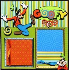 "The Avid Scrapper: Disney ""GOOFY"" Premade Scrapbook Pages"