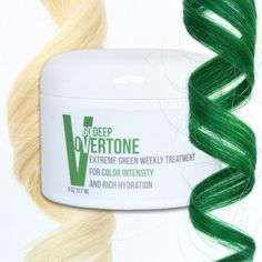 Always wanted to have green hair color? Now's your chance. oVertone color depositing conditioners give you green hair at home with none of the damage!