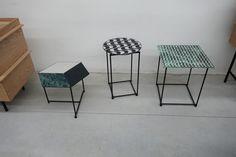 O CÉU - CALCADA - Side Tables - Prototypes in the factory.