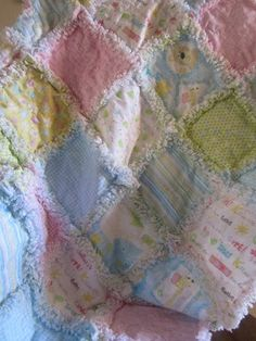 Rag Quilt Baby /Toddler Giraffes Kittens Bears. $45.00, via Etsy.
