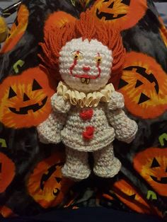 Check out this item in my Etsy shop https://www.etsy.com/uk/listing/556073237/crochet-clown-doll-new-style-it