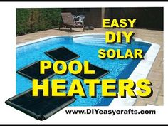 How to make this easy DIY Solar Pool Heater. Simple design that works great. Warm your pool without any additional heating expense. Piscina Diy, Piscina Intex, Do It Yourself Pool, Diy Pool Heater, Intex Pool Heater, Swimming Pool Heaters, Pool Warmer, Kleiner Pool Design, Jacuzzi