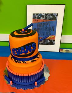 My son's Nerf birthday cake couldn't have been more perfect! My dear friend is extremely talented!