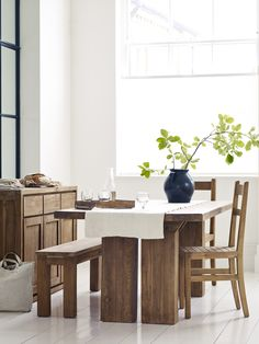 Tamara dining table, handmade in indonesia by Raft http://www.raftfurniture.co.uk/tamara-dining-table.html