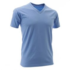 Mens V-Neck Cotton T-Shirts in 16 Colors(TVS01)