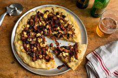 Pizza With Caramelized Onions, Figs, Bacon and Blue Cheese Recipe - NYT Cooking