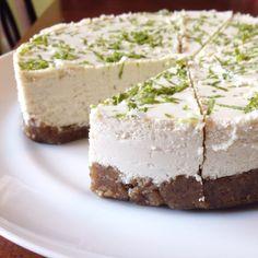 Vegan & Paleo Key Lime Cheesecake #justeatrealfood #prettypies