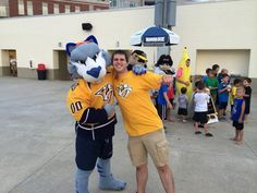 Twitter fan @CanesFan2312 found Gnash at a baseball game! #IsItOctoberYet?