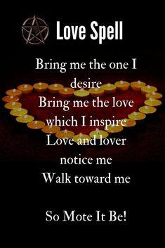 Wicca Love Spell, Love Spell Chant, Cast A Love Spell, Love Spell That Work, Good Luck Spells, Free Love Spells, Easy Spells, Free Magic Spells, White Magic Spells