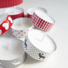 Wash tape tea lights.
