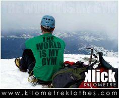 THE WORLD IS MY GYM T-Shirt from KLICK  www.kilometreklothes.com