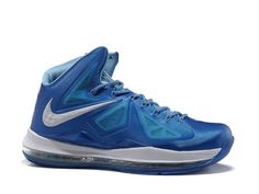 Nike Lebron 10 Blue Diamond,Style code:542244-400,It features a blue Hyperfuse upper with white accents on Nike swoosh logo and midsole. The shoes features a unique color combination of different blues including Photo Blue, Windchill, and Tidepool Blue. We can see the Flywire through mesh side panels and the diamond designs on swoosh and midsole. The full-length nike zoom air unit provides impact protection and quick-cut responsiveness.