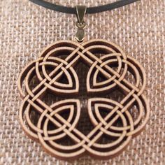 Handcrafted Laser Cut Celtic Knot Pendant Made by WoodenOddities