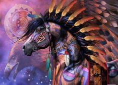 Native American War Horses   via Native American Art   War Horse