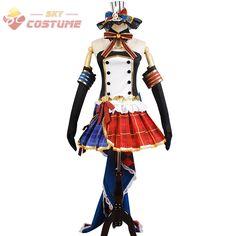 LoveLive! Love Live Nozomi Tojo Cafe Maid Uniform Dress Glove Full Set Anime Halloween Cosplay Costumes For Women Custom Made #Affiliate