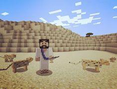 Jeesus erämaassa villieläinten keskellä #fisucraft #minecraft #kirkkovuosi Minecraft, Instagram