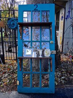 Leaner Door Man Cave Furniture Blue Door Door by MaxsUniquities